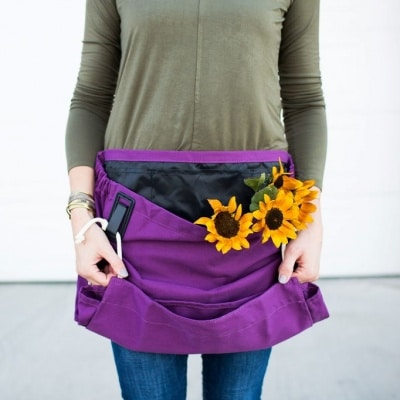 purple Joey gardening apron